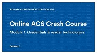 Module 1: Credentials & reader technologies (Presentation)