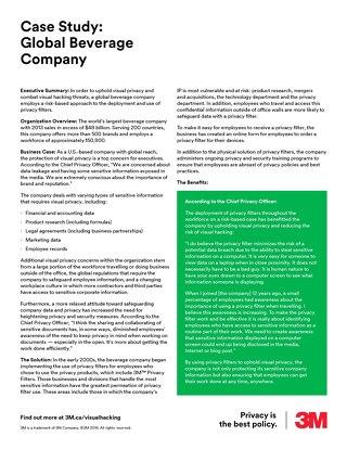 Global Beverage Company Case Study