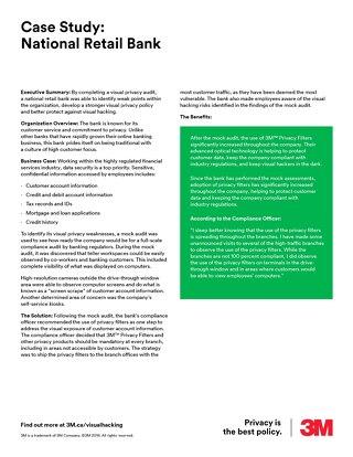 National Retail Bank Case Study