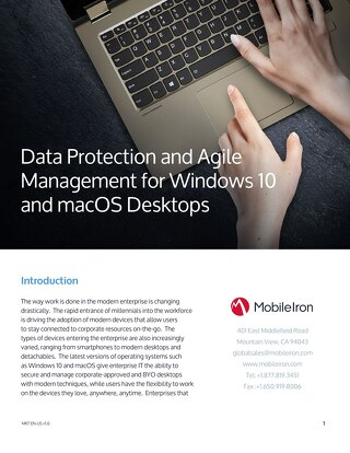 Data Protection and Agile Management