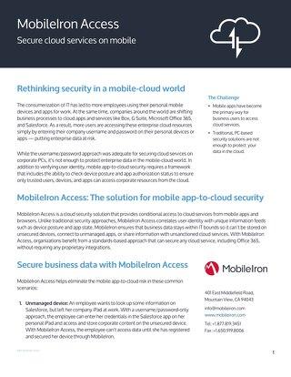 MobileIron Access Datasheet