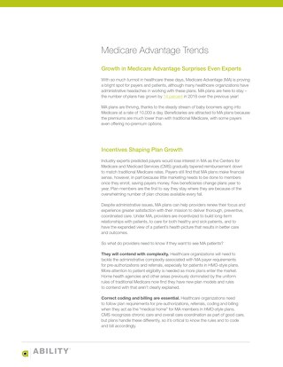 Medicare Advantage Trends