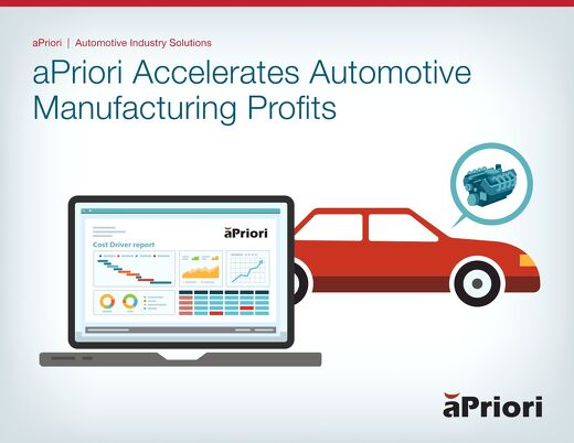 aPriori Accelerates Automotive Manufacturing Parts