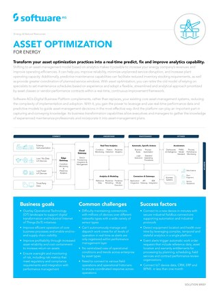 ASSET OPTIMIZATION FOR ENERGY