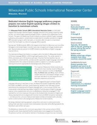 Case Study: Milwaukee Public Schools International Newcomers Center