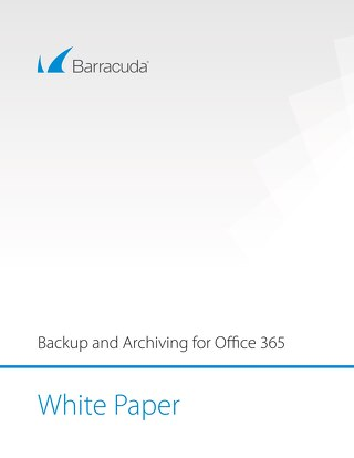 Backup and Archiving for Office 365