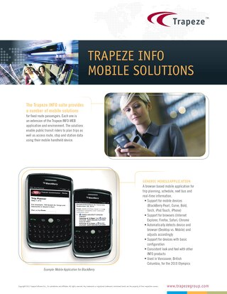 Trapeze Mobile Ticketing