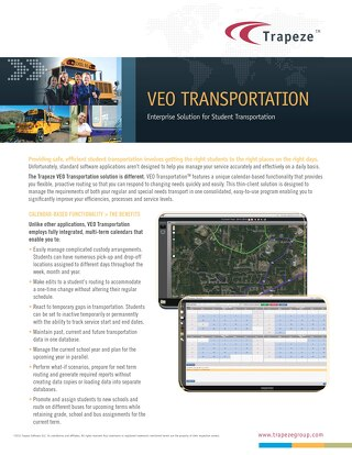 Trapeze VEO Transportation