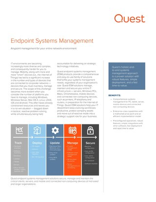 Endpoint System Management Datasheet