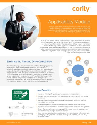 One Pager - Applicability Module