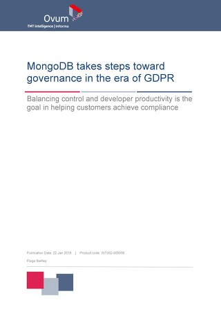 MongoDB takes steps toward governance in the era of GDPR