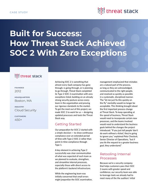 How Threat Stack Passed SOC 2 with Zero Exceptions