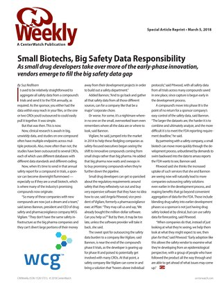 Small Biotechs, Big Safety Data Responsibility