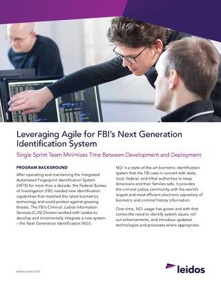 Leveraging Agile for FBI's Next Generation Identification System