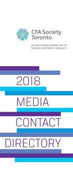 CFA Society Toronto - 2018 Media Contact Directory
