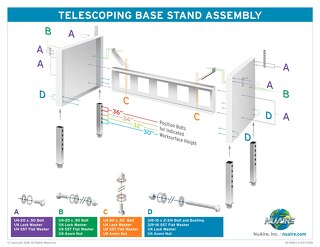 [Infographic] Telescoping Base Stand Assembly