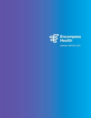 2017 Encompass Health Annual Report