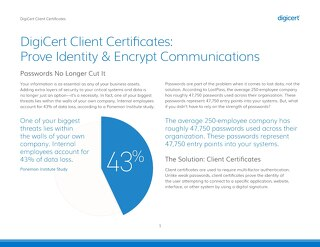 DigiCert Client Certificates: Prove Identity & Encrypt Communications