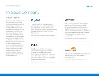 In Good Company: Brands That Trust DigiCert
