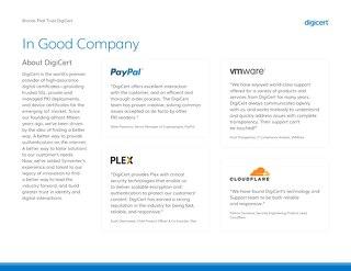 在良好的公司:DigiCert品牌信任williamhill中国