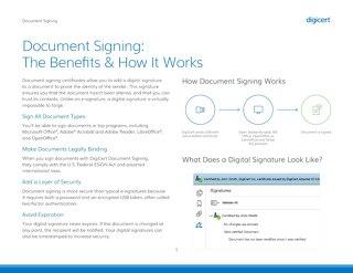 文档签名:好处和它是如何工作的