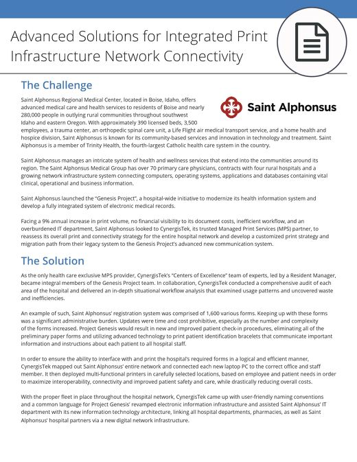 Advanced Solutions for Integrated Print Infrastructure Network Connectivity