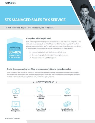 Sovos Managed Sales Tax Service _STS Datasheet