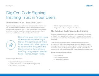 DigiCert Code Signing: Instilling Trust in Your Users