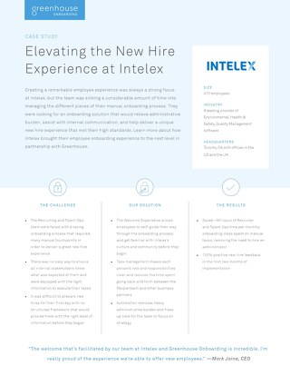 Elevating the New Hire Experience at Intelex