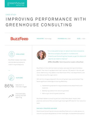 Improving Performance with Greenhouse Consulting at Buzzfeed