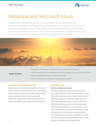 Solution Brief - Microsoft Azure and Netskope