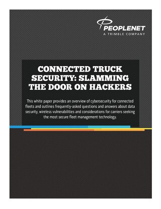 Connected Truck Security: Slamming the Door on Hackers