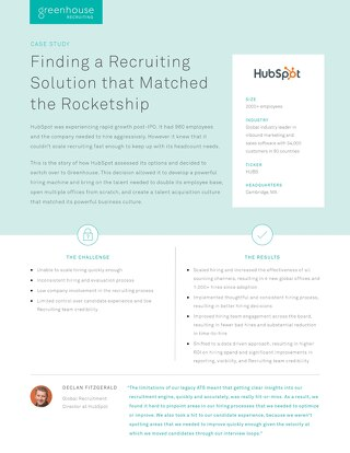 Finding a Recruiting Solution that Matched the Rocketship at HubSpot