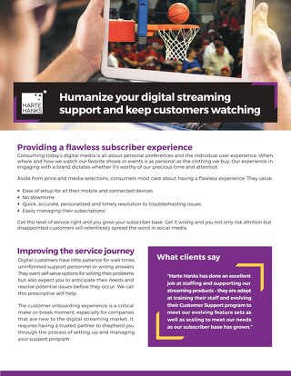 Digital Streaming Support: Solution Overview