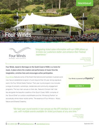 Four Winds & eTapestry Case Study