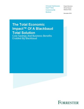 The Total Economic Impact - Forresters - Raiser's Edge NXT Impact