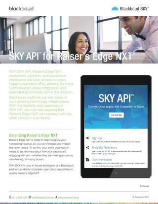 Sky API Datasheet