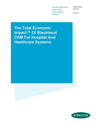 TEI of Blackbaud CRM  2014 - Health Systems and Hospitals