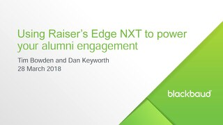[Slideshare] Power your alumni engagement with Raiser's Edge NXT