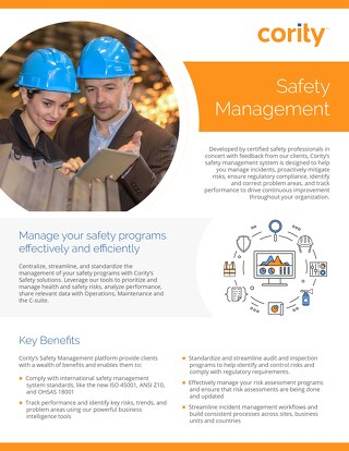 Product Sheet - Safety Management Platform