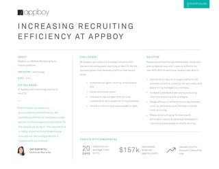 Increasing Recruiting Efficiency at Braze, formerly Appboy