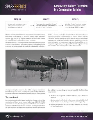 Case Study: Failure Detection in a Combustion Turbine