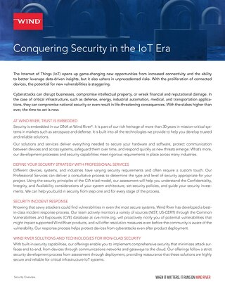 Security Overview: Conquering Security in the IoT Era