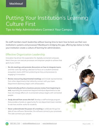 Creating a Connected Campus Tipsheet