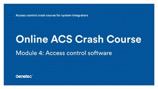Module 4: Access control software (Presentation)