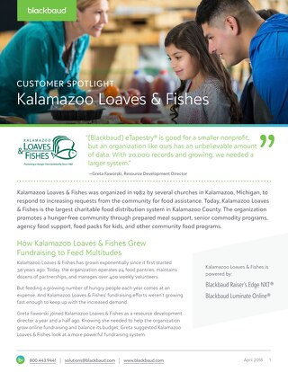 Kalamzaoo Loaves & Fishes Grow with Blackbaud