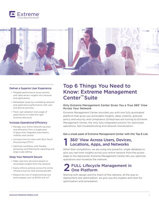 Extreme Management Center 6 Things You Need to Know