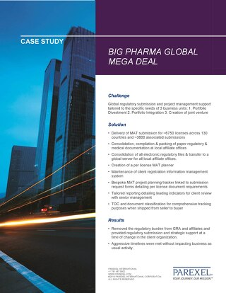 Case Study: Big Pharma Global Mega Deal