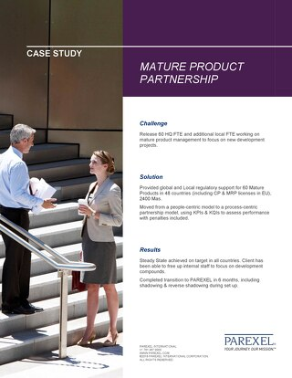 Case Study: Mature Product Partnership