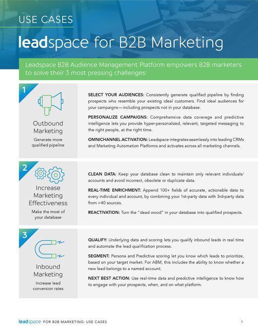 Leadspace for B2B Marketing